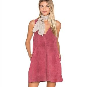 Free People Retro Love Suede Dress - Rose